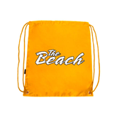Gold Drawstring Backpack-The Beach