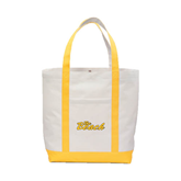 Contender White/Gold Canvas Tote-The Beach