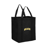 Non Woven Black Grocery Tote-Arched Beach