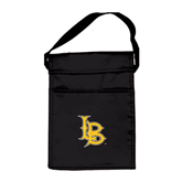 Koozie Black Lunch Sack-Interlocking LB