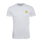 SoftStyle White T Shirt-Interlocking LB