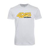 SoftStyle White T Shirt-49ers Long Beach