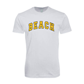 SoftStyle White T Shirt-Arched Beach