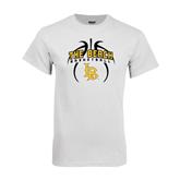 White T Shirt-Basketball in Ball Design