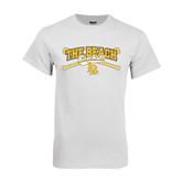 White T Shirt-Baseball Crossed Bats Design