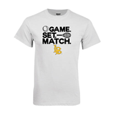White T Shirt-Game. Set. Match. Tennis Design
