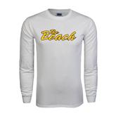 White Long Sleeve T Shirt-The Beach