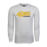 White Long Sleeve T Shirt-49ers Long Beach