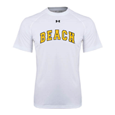 Under Armour White Tech Tee-Arched Beach