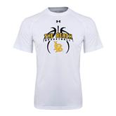 Under Armour White Tech Tee-Basketball in Ball Design
