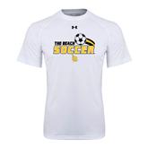 Under Armour White Tech Tee-Soccer Swoosh Design