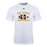 Under Armour White Tech Tee-Cross Country Design
