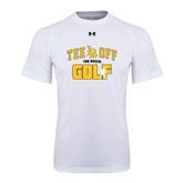 Under Armour White Tech Tee-Golf Golfer Design
