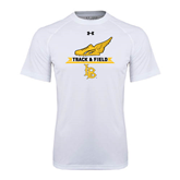Under Armour White Tech Tee-Track and Field Side Shoe Design