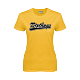 Ladies Gold T Shirt-Dirtbags