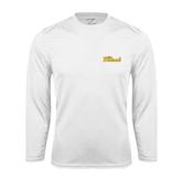 Performance White Longsleeve Shirt-The Beach