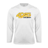 Performance White Longsleeve Shirt-49ers Long Beach