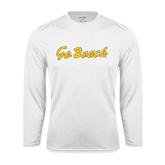 Performance White Longsleeve Shirt-Go Beach