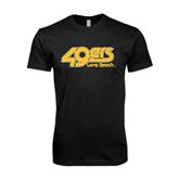 Next Level SoftStyle Black T Shirt-49ers Long Beach