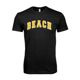 Next Level SoftStyle Black T Shirt-Arched Beach
