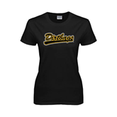 Ladies Black T Shirt-Dirtbags
