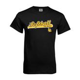 Black T Shirt-Softball Bat Design
