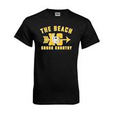 Black T Shirt-Cross Country Design