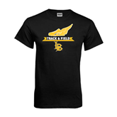 Black T Shirt-Track and Field Side Shoe Design