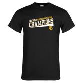Black T Shirt-2018 Mens Volleyball Champions