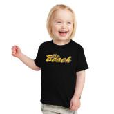 Toddler Black T Shirt-The Beach
