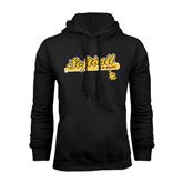 Black Fleece Hoodie-Softball Bat Design