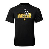 Under Armour Black Tech Tee-Soccer Swoosh Design