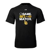 Under Armour Black Tech Tee-Game. Set. Match. Tennis Design