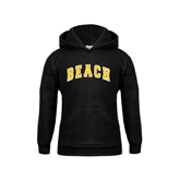 Youth Black Fleece Hoodie-Arched Beach