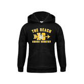 Youth Black Fleece Hoodie-Cross Country Design