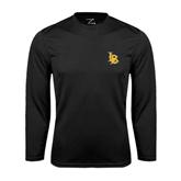 Performance Black Longsleeve Shirt-Interlocking LB