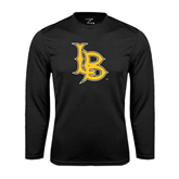 Performance Black Longsleeve Shirt-Interlocking LB