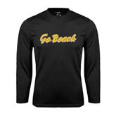 Performance Black Longsleeve Shirt-Go Beach