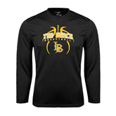 Performance Black Longsleeve Shirt-Basketball in Ball Design