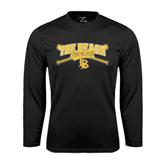 Performance Black Longsleeve Shirt-Baseball Crossed Bats Design