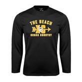 Performance Black Longsleeve Shirt-Cross Country Design