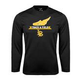 Performance Black Longsleeve Shirt-Track and Field Side Shoe Design