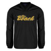 V Neck Black Raglan Windshirt-The Beach