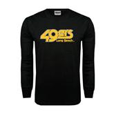 Black Long Sleeve TShirt-49ers Long Beach