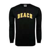 Black Long Sleeve TShirt-Arched Beach