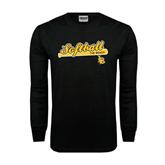 Black Long Sleeve TShirt-Softball Bat Design