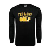 Black Long Sleeve TShirt-Golf Golfer Design