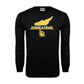 Black Long Sleeve TShirt-Track and Field Side Shoe Design