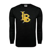 Black Long Sleeve TShirt-Interlocking LB