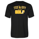 Performance Black Tee-Golf Golfer Design